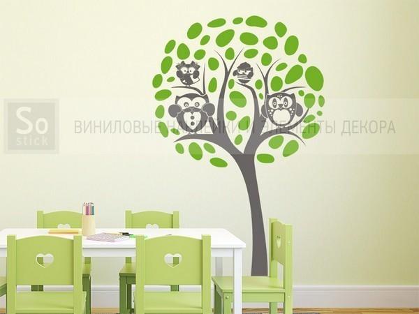 Дерево с совами