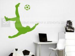 Футболист забивающий гол